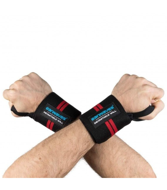 Ultra Strong Wrist Wraps Black-Red